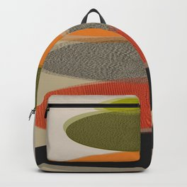 Mid-Century Modern Ovals Abstract Backpack