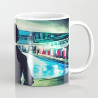 pool Mugs featuring The Pool by Alice X. Zhang