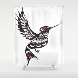 Pacific Northwest Hummingbird coastal formline art colibri Shower Curtain