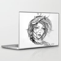 orca Laptop & iPad Skins featuring Orca by Mortimer Sparrow