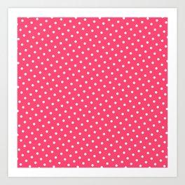 Pastel Goth Pastel Pink Retro Polka Dot (White) Art Print