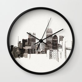 unfinished skyline Wall Clock