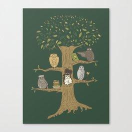 Never Trust an Owl Canvas Print