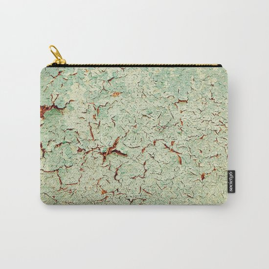 Cracked Wall Texture Green Carry-All Pouch