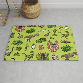 Jurassic pattern lighter Rug