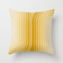 Gradient Curvature VII Throw Pillow