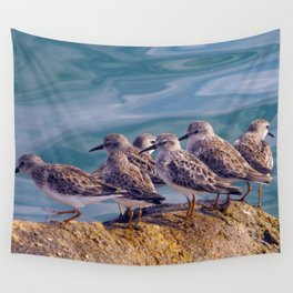 Young Shore Birds Wall Tapestry