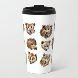 Goofy Grizzly Bears Travel Mug