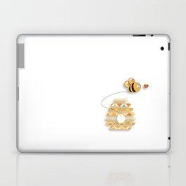Patterned Honey Bee Laptop & iPad Skin