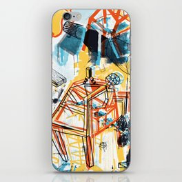 yellowredblueandblack iPhone Skin