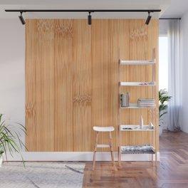 Cool elegant light brown bamboo wood print Wall Mural