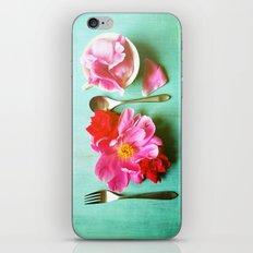 You Are What You Eat - Aqua iPhone Skin