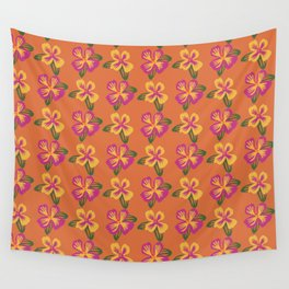 Hibiscus Tropical Flower Retro Beach Print Wall Tapestry