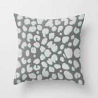 dino Throw Pillows featuring DINO by LAUREN WALKER