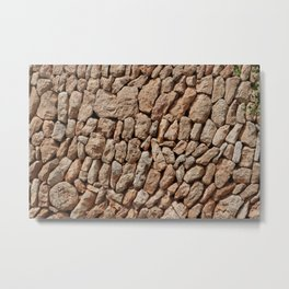 Stone wall background Metal Print
