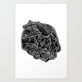 InsanitynArt's Skull Logo. Art Print