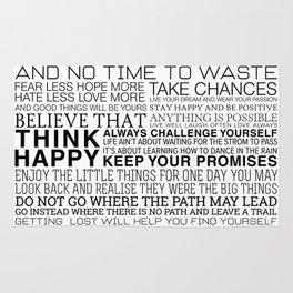 Life Manifesto Rug