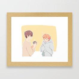 mornings kagehina Framed Art Print