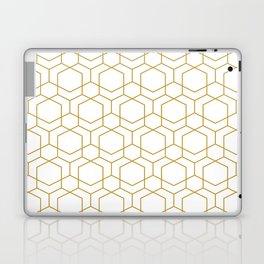 Golden grid Laptop & iPad Skin