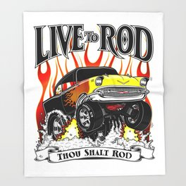 Kellys 57 - Live To Rod Throw Blanket