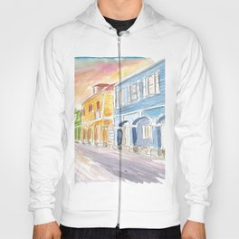 Christiansted US Virgin Islands Colonial Street Scene At Sunset St Croix Hoody