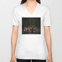 red riding hood V-neck T-shirts featuring Red Riding Hood by Viggart