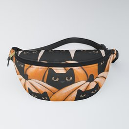 Black Cats in the Pumpkin Patch Fanny Pack