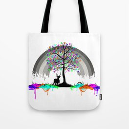 Colorless Raimbow Tote Bag
