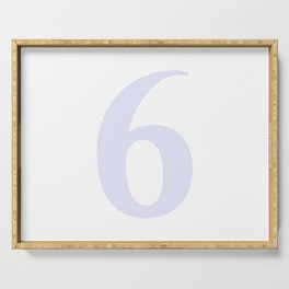 6 (LAVENDER & WHITE NUMBERS) Serving Tray