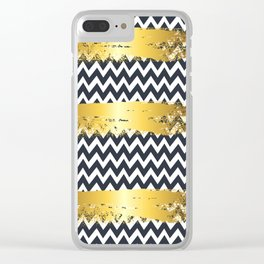 Golden zag Clear iPhone Case