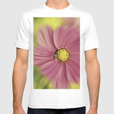 Hoverfly in the Pink MEDIUM Mens Fitted Tee White