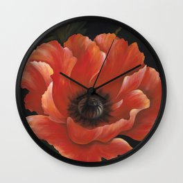 Summer Poppy Wall Clock