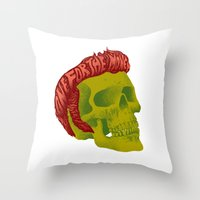 elvis Throw Pillows featuring Elvis by David Maclennan