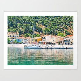marine collection. Greece. Kefalonia Art Print