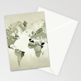 Design 123 World Map Stationery Cards