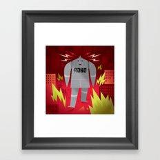 Robo! Destroy! Framed Art Print