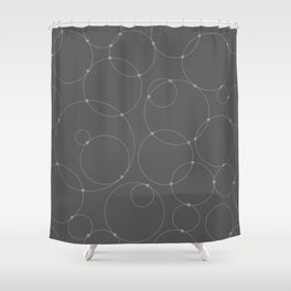Connected by Love Dark Shower Curtain