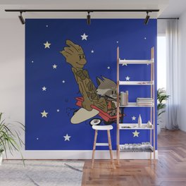 Rocket and Groot Wall Mural