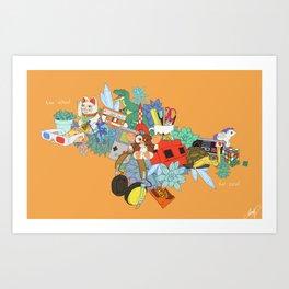 Too school for cool Art Print