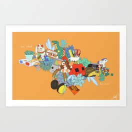 Too school for cool Art Print