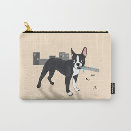 Attack of the Colossal Boston Terrier!!! Carry-All Pouch