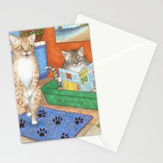 Cat in litter Stationery Cards