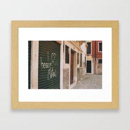 I heart Heavy Metal Venice Italy Framed Art Print