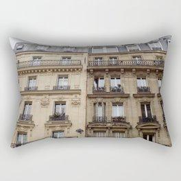 Paris apartment buildings street Rectangular Pillow