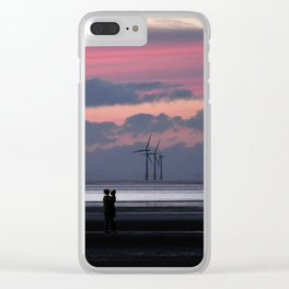 sunset romance Clear iPhone Case