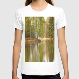 It's almost summer! Reflection Tree Lake #decor #society6 T-shirt