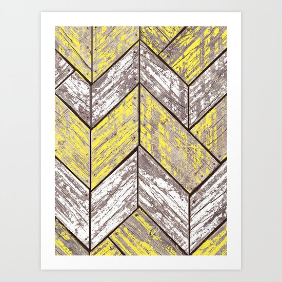 SHORELINE CHEVRONS (2 of 3) Art Print