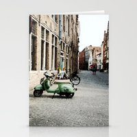 motorbike Stationery Cards featuring Motorbike by AU Designs Studio