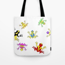 Frogs toads Super Colorful Cute Tote Bag