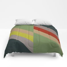 Modernist Geometric Graphic Art Comforters